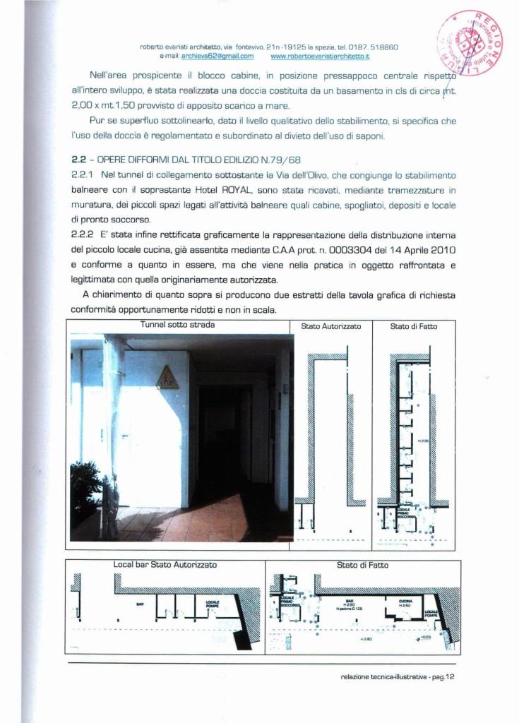 Estratto dalla Relazione Tecnica Illustrativa