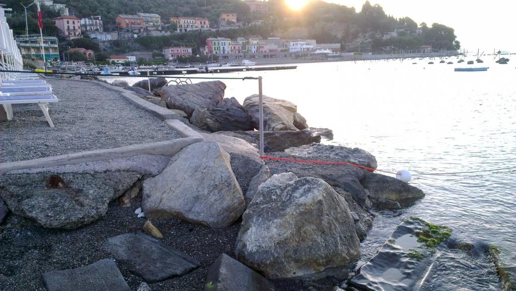 Sporting Beach (Portovenere - SP) com'è ora: maggio 2015