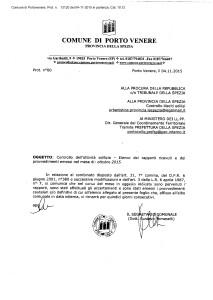 Nota di accompagnamento rapporto illleciti edilizi ottobre 2015
