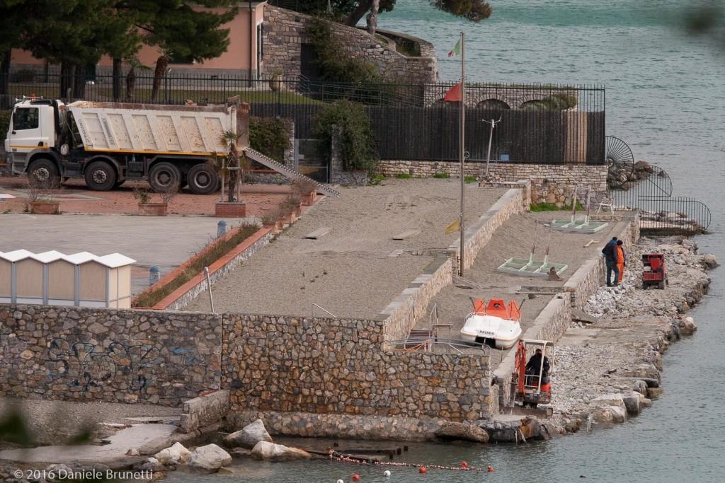 16.02.16 - Portovenere (SP) - Le Terrazze: messa in pristino in area demaniale marittima